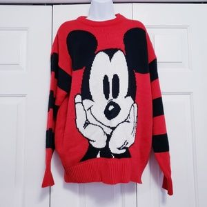 Vintage 1980's Disney Mickey Mouse Red Oversized